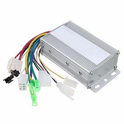 Alftek - Controlador de velocidad (350 W 36 V/48 V) sin escobillas, para motor de bicicleta eléctrica o patinete eléctrico, tamaño 36V