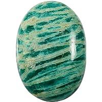 Gems&JewelsHub 50.50CTS 100% Naturale Amazzonite Bellissimo Design Ovale cabochon Sciolto