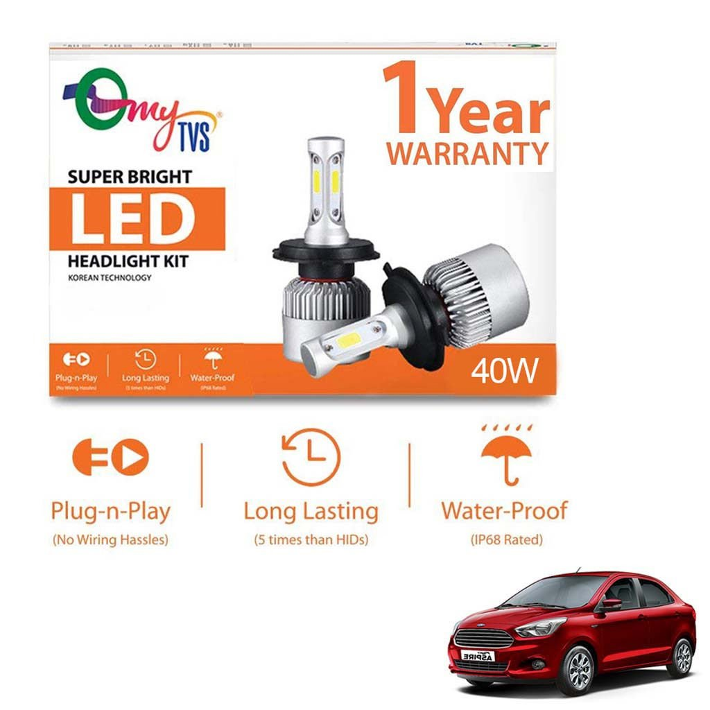 mytvs h4 led bulb 40w 6000k super bright headlight: amazon in: electronics