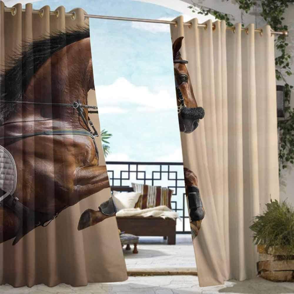 DILITECK Cortina de pérgola diseño de Caballo Abstracto, Figura de ...