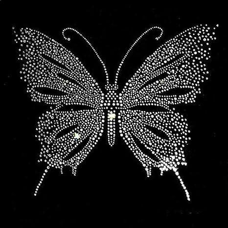 Butterfly Shiny Sequin Applique Patch Decoration Trim Iron On Sew Motif Hot Fix
