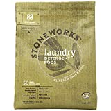 Grab Green Stoneworks Natural Laundry Detergent Powder Pods, Olive Leaf, 50 loads