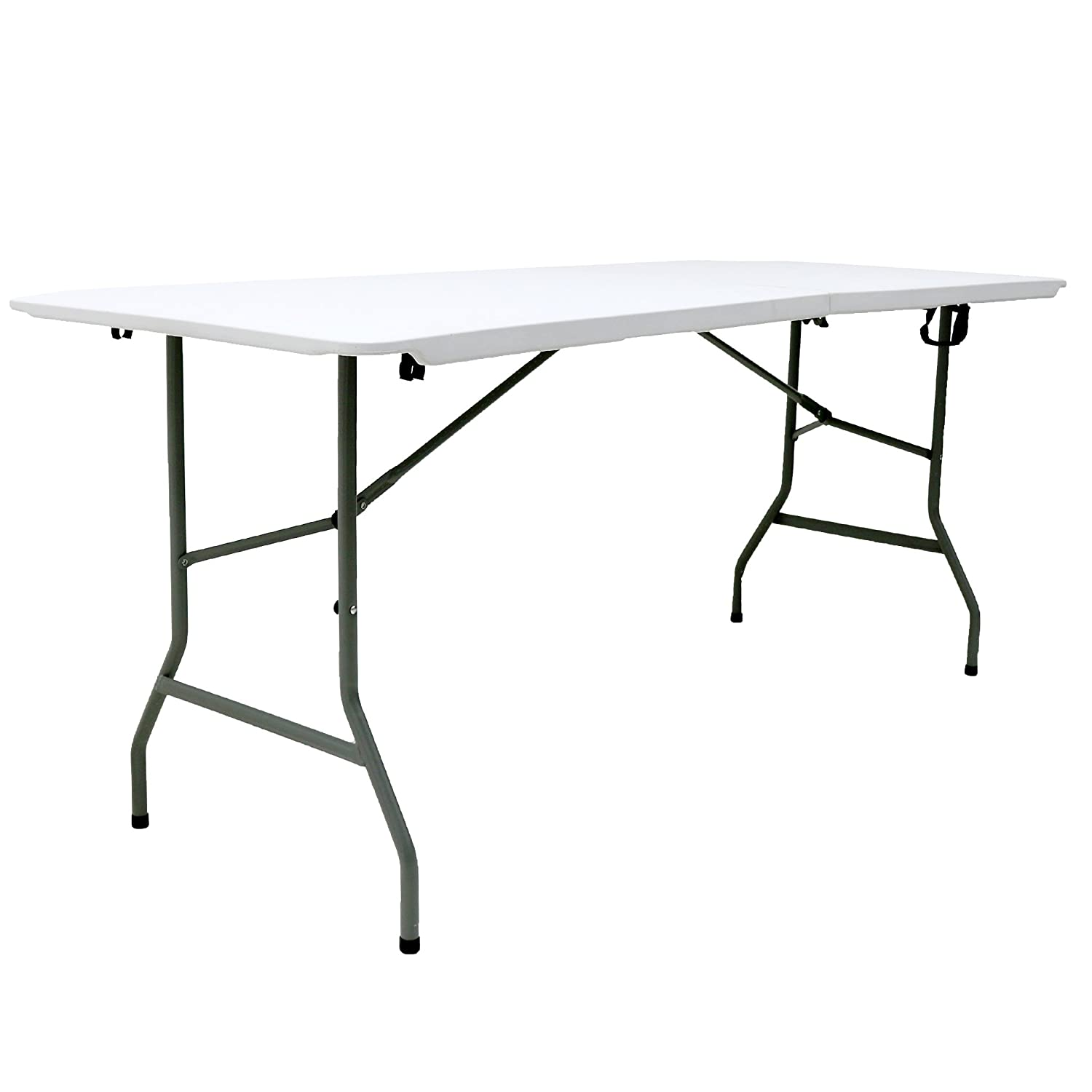Oypla 6ft 1.8m Folding Heavy Duty Catering Trestle Party Garden Table