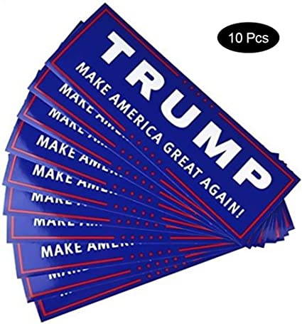 1-10pcs Donald Trump for President 2020 Make America Great Again Bumper Sticker