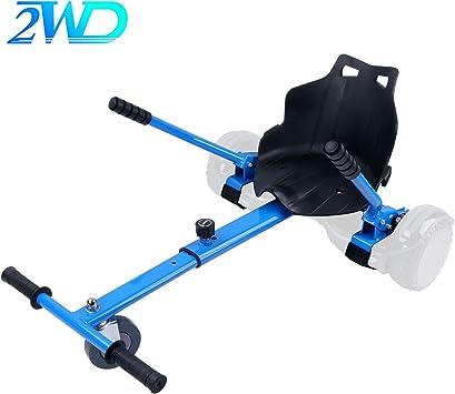 2WD Hoverkart para Hoverboard, Go-Kart Conversión Kit Patinete Eléctrico, Longitud Ajustable, Compatible con Todos Los Hoverboards - Hoverboard No Incluido (Azul): Amazon.es: Deportes y aire libre