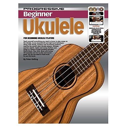Progressive: Beginner Ukulele (Book/CD/2DVDs/DVD-ROM/Poster) - Sheet Music, CD, 2 x DVD (Region 0), DVD-Rom, Posters