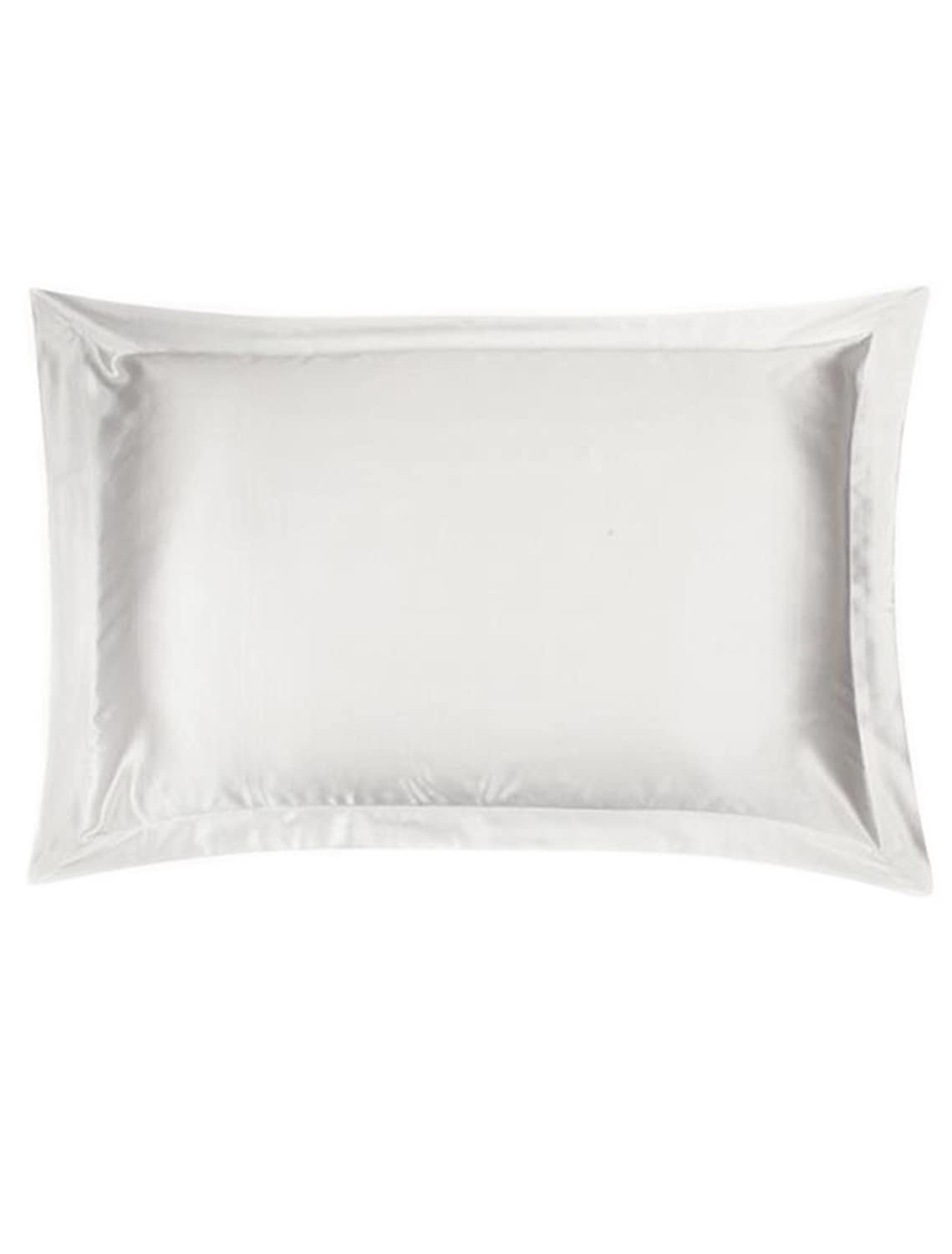Ayiyoy 100% Mulberry Silk Pillowcase with Silky Underside Polyester White