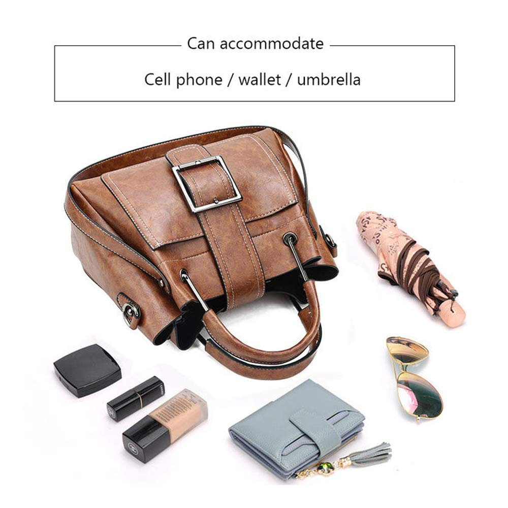 043869d52017 Kingto Women Small Leather Handbag Messenger Bag Tote Top-Handle Shoulder  Bag Multi-Pocket Crossbody Bag for Ladies