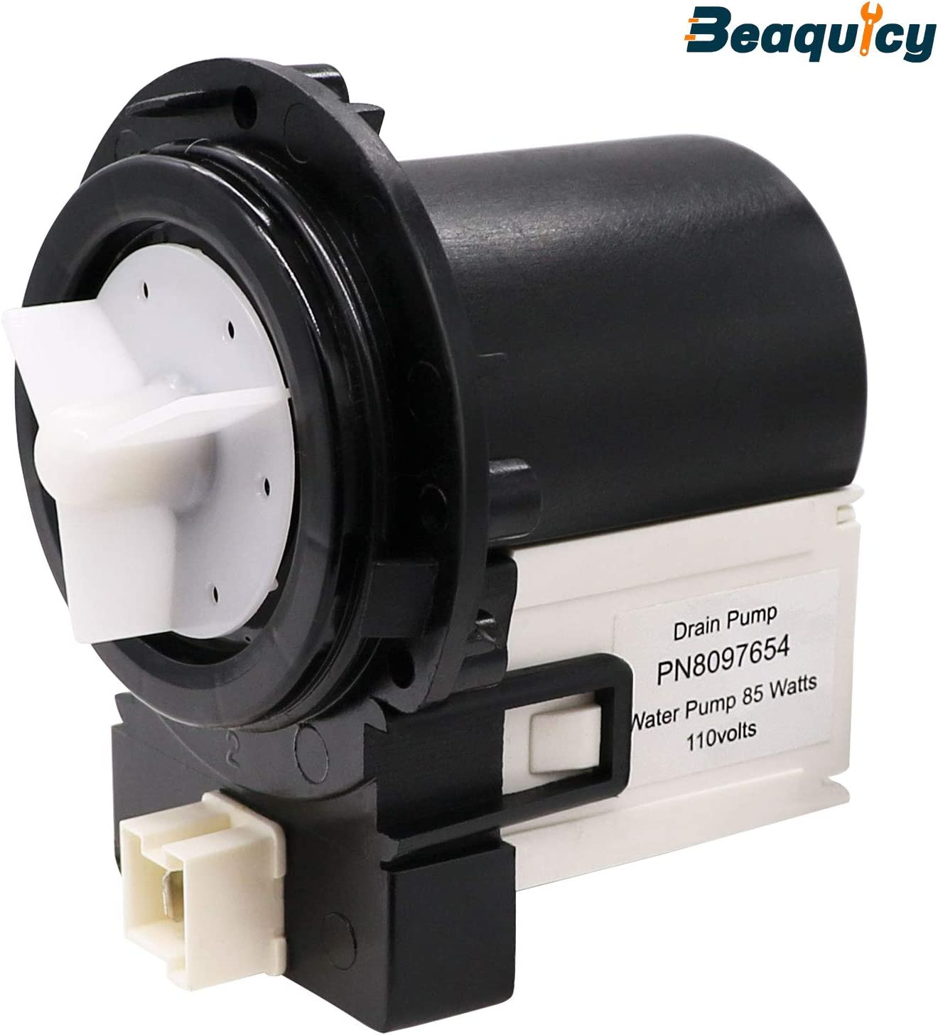 DC31-00054A Washer Drain Pump Water Motor Assembly (85 Watts 110 Volts) by Beaquicy - Replacement for Kenmore Samsung Washing machine