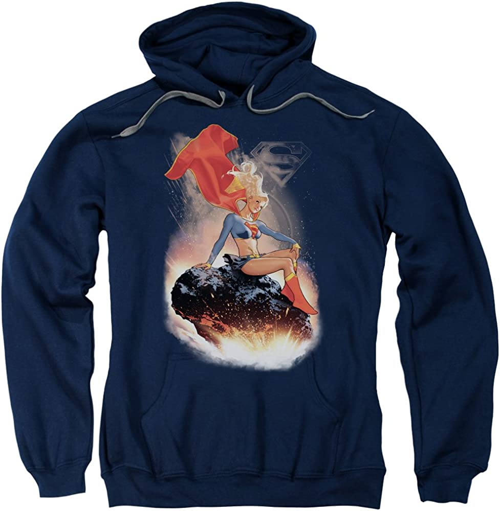 Trevco Superman Ride It Out Adult Pull Over Hoodie Navy