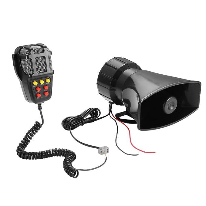 Greenbang 12V 100W 7 Tono Alarma de Seguridad Alta Alarma ...