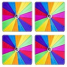 MSD Natural Rubber Square Coasters IMAGE ID 28301002 Rainbow umbrella background
