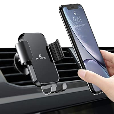 Phone Holder for Car Vent-FLOVEME Car Phone Mount Air Vent Gravity Hands Free Cell Phone Holder for Car Universal Car Phone Clip Holder for iPhone 11 Pro Max XR XS Max X 8 7 6 Plus Samsung Galaxy S10