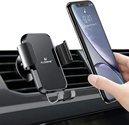 Air Vent Car Phone Mount Gravity Auto-Clamping Hands-Free Phone Holder for Car 360 Degree Rotation Design Compatible with 4-6.7 inch Smartphone Angry Bear Pattern
