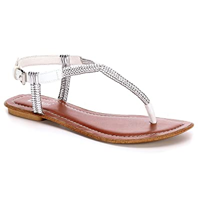 73d214b3f9be Limelight Womens Alexis Ankle Strap Thong Sandal Shoes