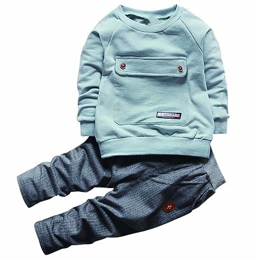 8105bc14c3375 2PCS Baby Boys Girls Cartoon Clothing Set Long Sleeve Shirt and Pants