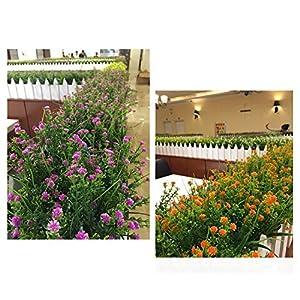 Bird Fiy Babys Breath Artificial Flowers,4 Bundles Gypsophila Flower Wedding Home Decor Gift (Red) 5