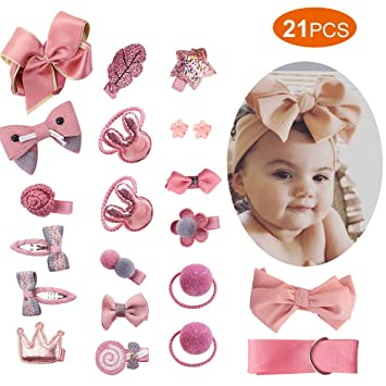 Bow Babies Hairband Lace Mother /& Kids Girls Hair Accessories Girls Clothing