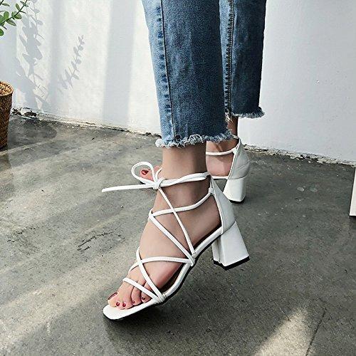Toe Transversal Dama Comodidad Antideslizante b Playa Bohemia Sandalias YMFIE Shoes Verano Tira Dama qAfCwHXax