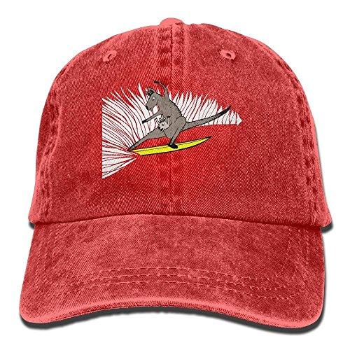 WHROOER 2018 Adult Fashion Cotton Denim Baseball Cap Surfing Kangaroo Classic Dad Hat Adjustable Plain Cap ()