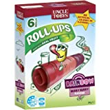 UNCLE TOBYS Roll-Ups Rainbow Berry Berry Flavour Fruit Snack 6 Pack, 94g