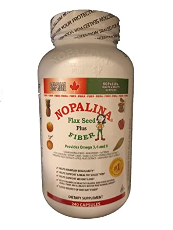 Nopalina Flax Seed Plus Capsules 240 Capsules by Nopalina