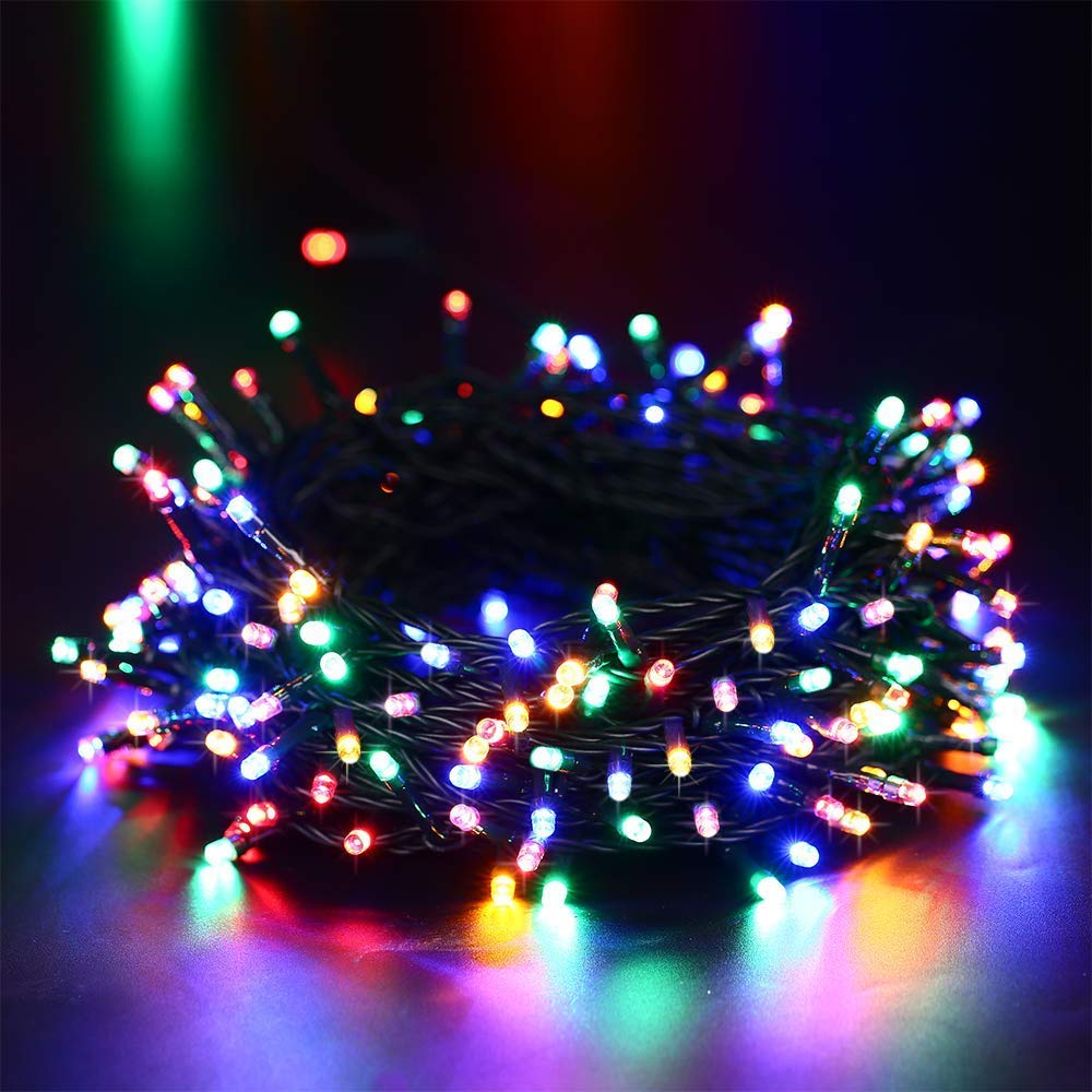 DOTOMP Solar Christmas String Lights, 72ft 200 LED 8 Modes Solar Powered Outdoor String Light Lighting Waterproof Fairy Lights for Xmas Tree Garden Homes Wedding Lawn Party Decor