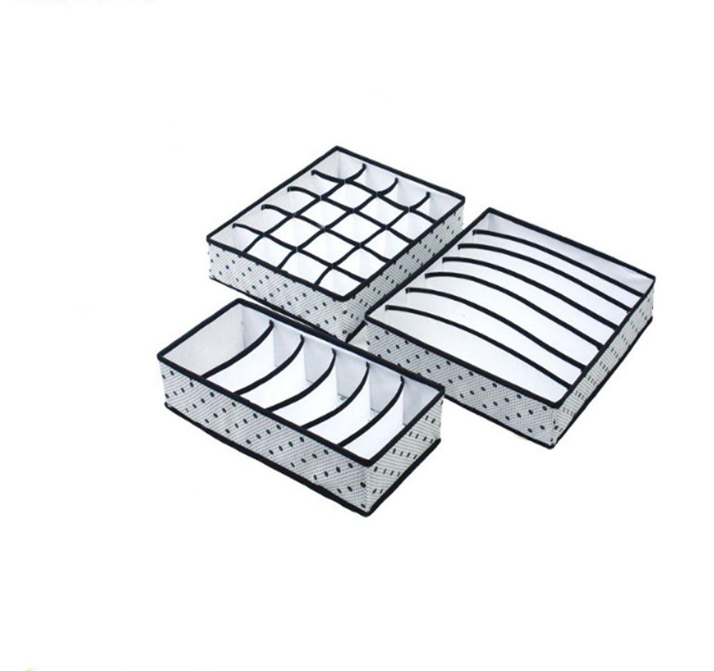 Sujetadores Ropa Interior Moolila Juego de 3 separadores Plegables para Armario Caja de Almacenamiento Plegable para Guardar Calcetines