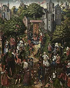 The Linen Canvas of oil painting 'Master of Frankfurt - Festival of the Archers, between 1510 and 1520' ,size: 8x10 inch / 20x25 cm ,this Cheap but High quality Art Decorative Art Decorative Canvas Prints is fit for Living Room decoration and Home artwork and Gifts