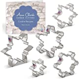 """Ann Clark Cookie Cutters Snowflake Cookie Cutter Set with Recipe Booklet - 5 Piece - 3.25"""", 3.5"""", 4"""", 4.25"""", 4.5"""" - USA…"""