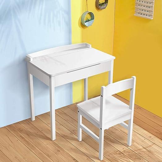 PUTEARDAT Kids Desk and Chair Set