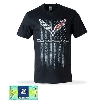 C7 Corvette American Legacy Men\'s T-Shirt (Medium, Black): Automotive [5Bkhe1514288]