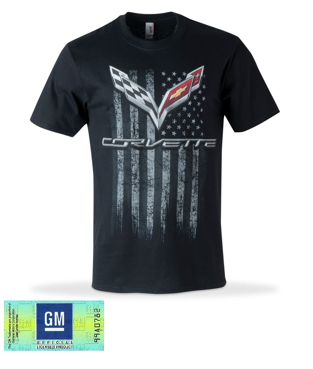 C7 Corvette American Legacy Men's T-shirt / Black (Large) West Coast Corvette / Camaro