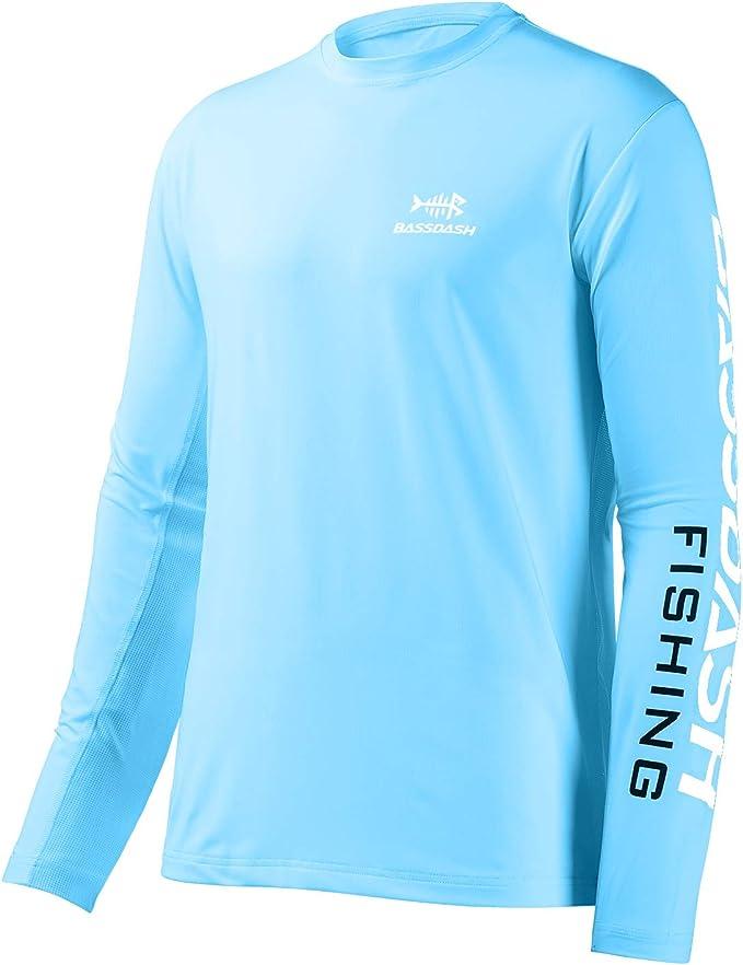 Bassdash - Camiseta de manga larga para hombre con protección solar UV UPF 50+: Amazon.es: Deportes y aire libre