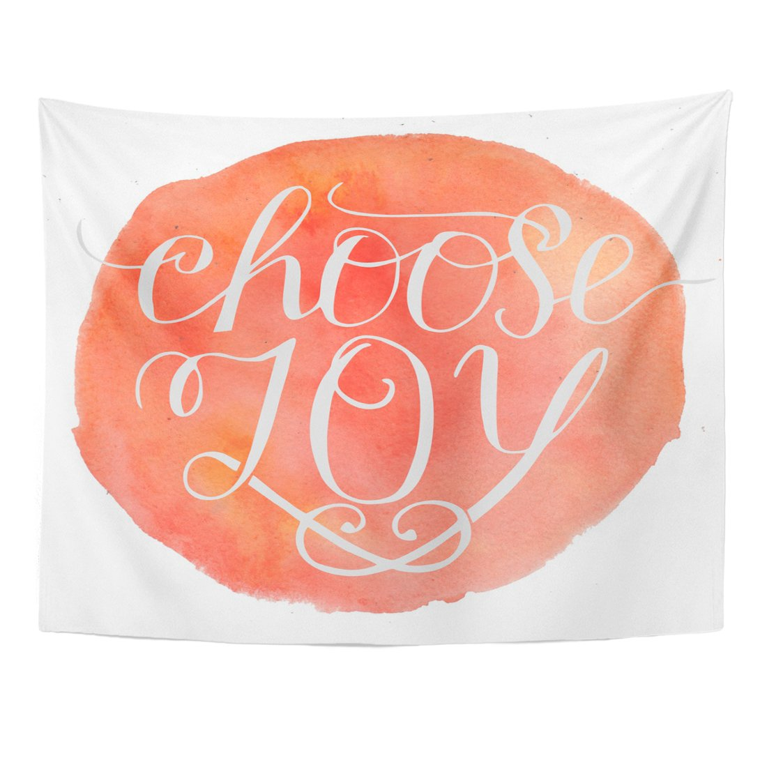 Breezat Tapestry Bible Hand Lettering Choose Joy Biblical Christian Modern Calligraphy Blessedness Home Decor Wall Hanging for Living Room Bedroom Dorm 60x80 Inches