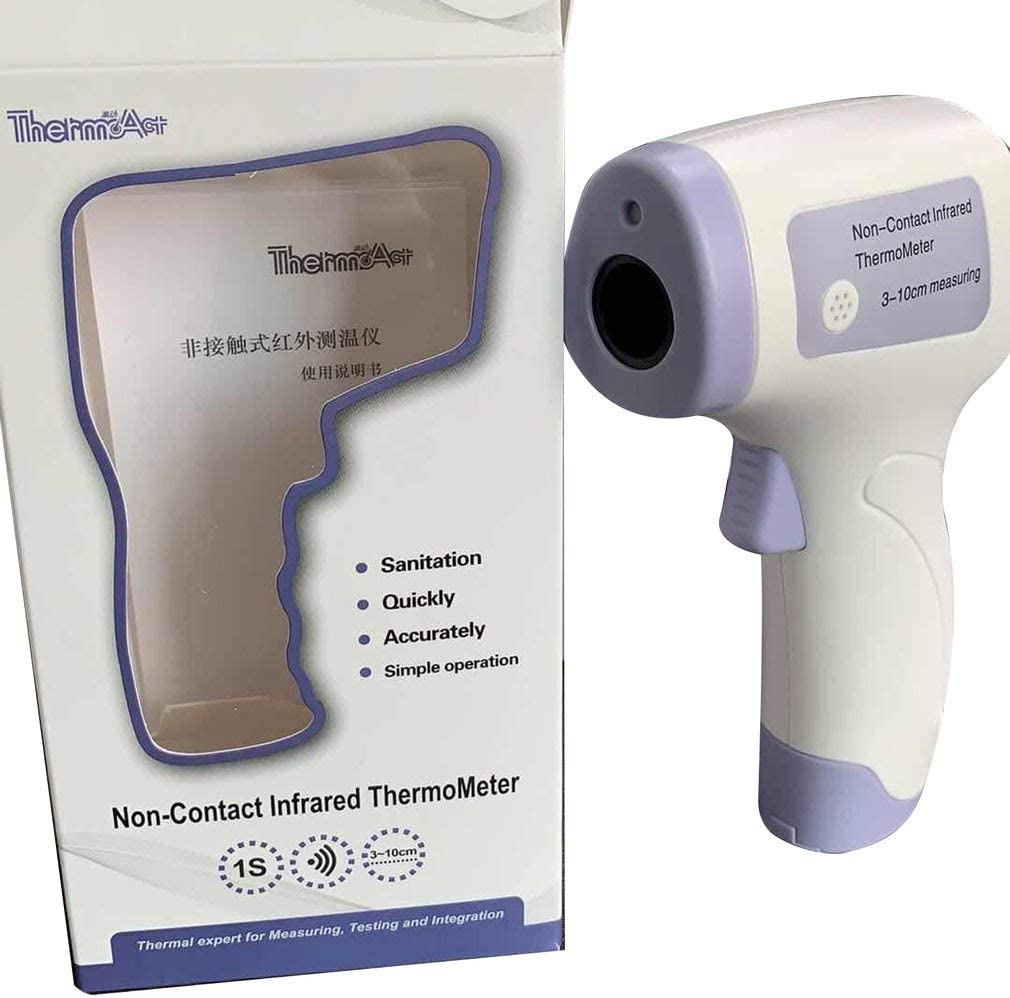 Infrared Digital Thermometer Baby Adult Body Temperature For Testing Fever Outdoor Indoor Forehead Ear Thermometer Non-contact Laser Thermometer Temperature Gun Easy To Use