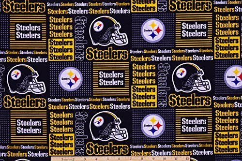 "Pittsburgh Steelers Football NFL 58"" Wide Fabric by the Yard"