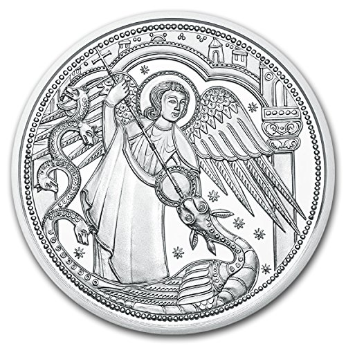 2017 AT Austria Silver ?10 Guardian Angels (Michael) Silver Brilliant Uncirculated