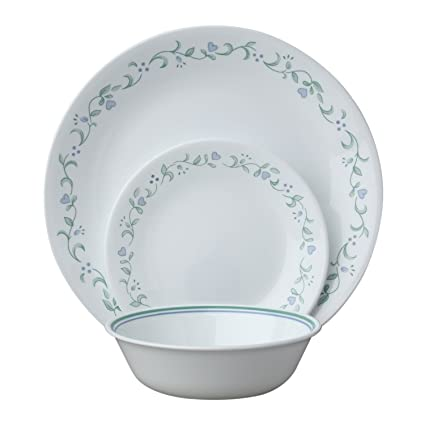 Corelle Country Cottage 12 Piece Service for 4 White 12 - Piece Set  sc 1 st  Amazon.com : corelle 12 piece dinnerware set - pezcame.com
