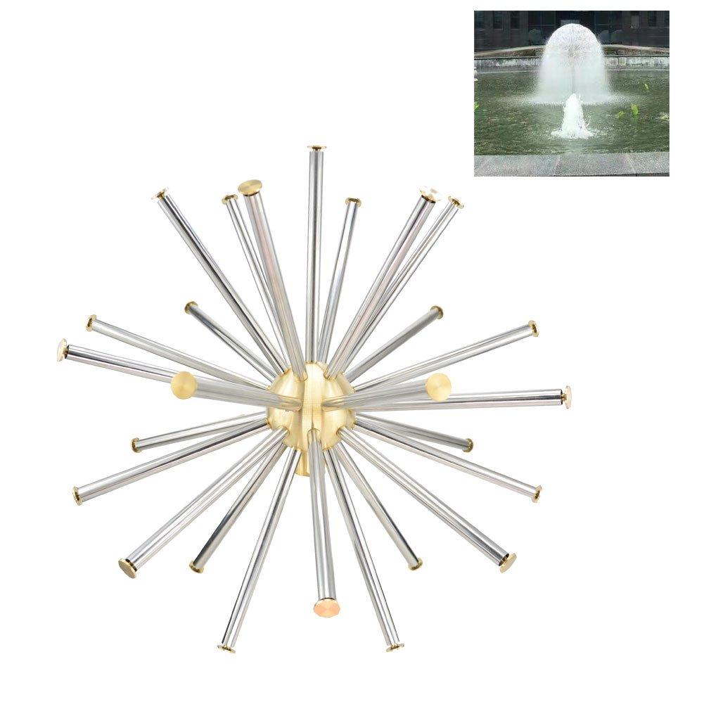 Brass Crystal Sphere Fountain Nozzle Spray Sprinkler Head Adjustable Fountain Equipment (G1)