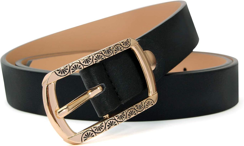 XIANGUO Cintura donna in pelle con fibbia ad ardiglione Cinture bianche per cintura girevole da donna e cintura in pelle a doppio uso per i giovani