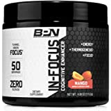 Bare Performance Nutrition | in-Focus Cognitive Enhancer | Thermogenic, Nootropic & Energy (50 Servings, Mango)