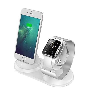 99061917f09 iitrust Soporte para iPhone y iWatch, 2 en 1 Soporte de Aleación de  Aluminio para