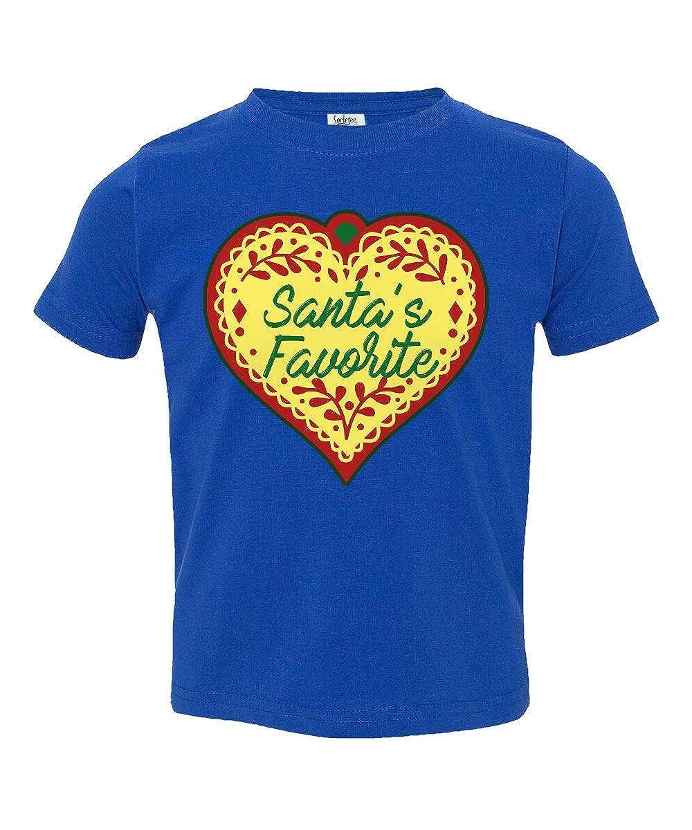 Societee Christmas Santas Favorite Heart Little Kids Girls Boys Toddler T-Shirt