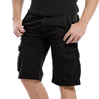 87324b473210 Sunshey Cotton Casual Mens Twill Cargo Shorts Pants Summer Fashion Sports  Beach Travel Pockets Camouflage Shorts