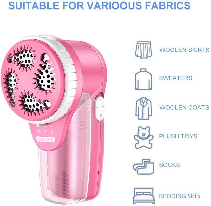 Dissolvant de fuzz de tissu de rasoir de vêtements, rasoir de tissu - dissolvant de charpie incorporé par prise de charge avec (Couleur : Pink) Pink