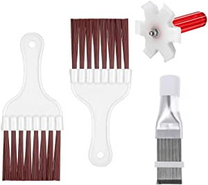pengxiaomei 4 Pcs Air Conditioner Condenser Fin Cleaning Brush, Coil Condenser Brush AC Fin Comb Stainless Steel Air Refrigerator Fin Cleaner Whisk Brush, Evaporator Radiator Repair Tool