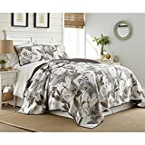 French Impression Taihiti Cotton 3 Piece Printed Quilt Set 3 Piece Queen