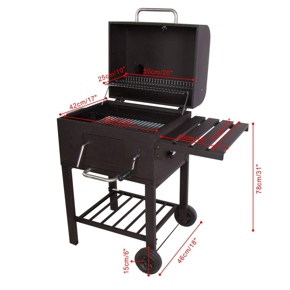 31 cm Grillfläche BBQ Barbecue Holzkohle Grill Holzkohlegrill Standgrill POSTEN