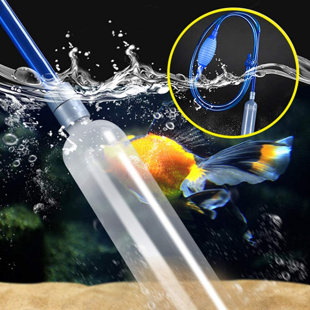 Bilieasy quarium Fish Tank Drainer Gravel Cleaner Water Filter Syphon Automatic Fluids Transfer Self Priming Gravel Cleaners